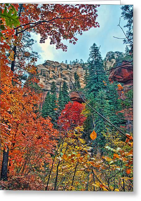 West Fork Greeting Cards - Color Cliff Greeting Card by Brian Lambert