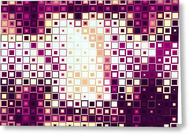 Fushia Greeting Cards - Color Cubed Greeting Card by Shawna  Rowe