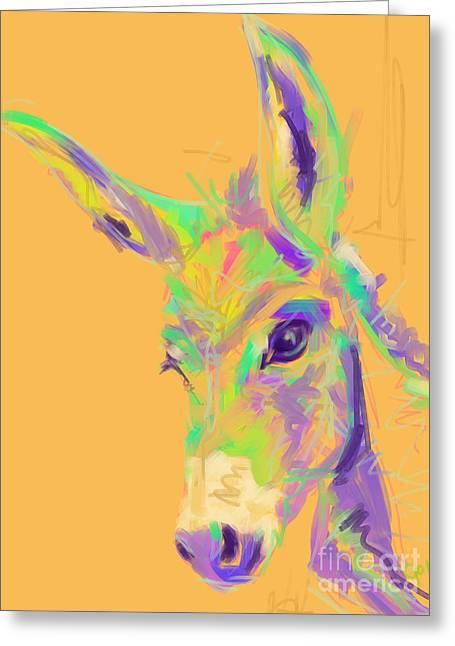 Abstracts Greeting Cards - Color Donkey Greeting Card by Go Van Kampen