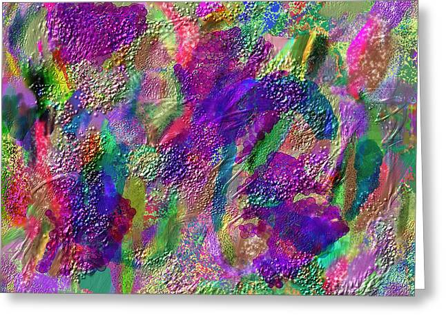 Abstract Digital Mixed Media Greeting Cards - Color Dream Play Greeting Card by Penny Lisowski