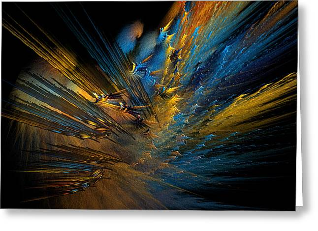 Bursting Color Greeting Cards - Color Explosion Greeting Card by Camille Lopez
