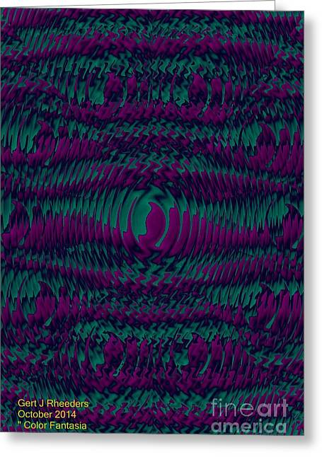 Abstract Digital Jewelry Greeting Cards - Color Fantasia Catus 1 no 2 V Greeting Card by Gert J Rheeders