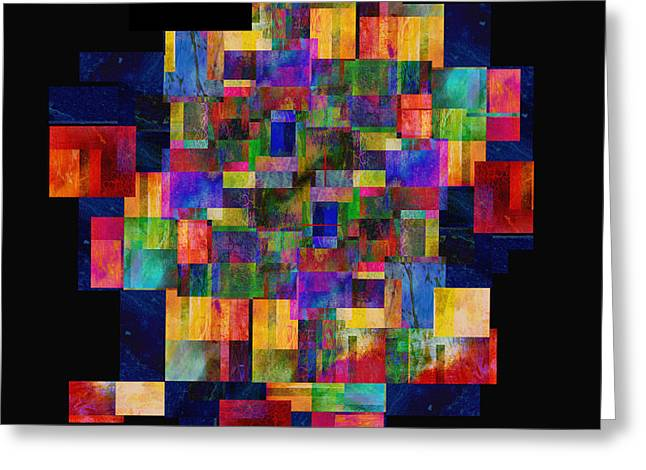 Color Fantasy - Abstract - Art Greeting Card by Ann Powell