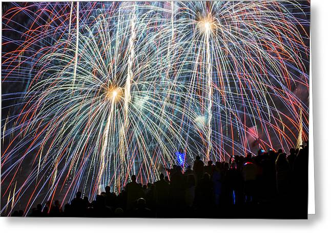 Fireworks. Kites Greeting Cards - Color Fire July 4th Greeting Card by Yoshiki Nakamura