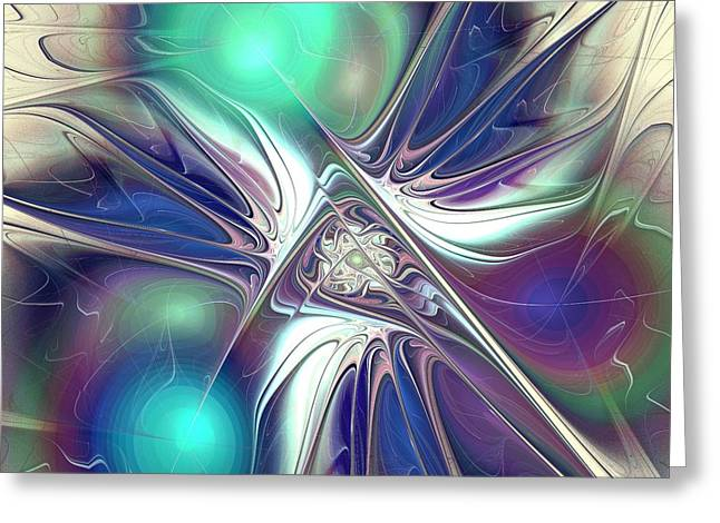 Abstract Digital Mixed Media Greeting Cards - Color Flash Greeting Card by Anastasiya Malakhova