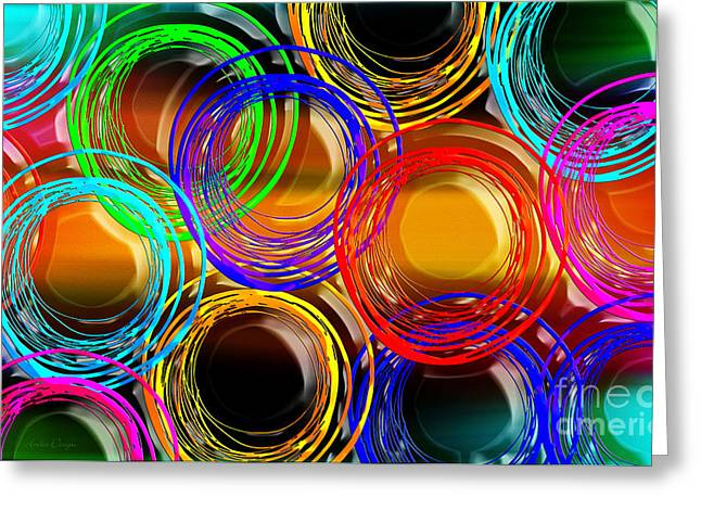Fashion Designer Abstract Art Greeting Cards - Color Frenzy 1 Greeting Card by Andee Design