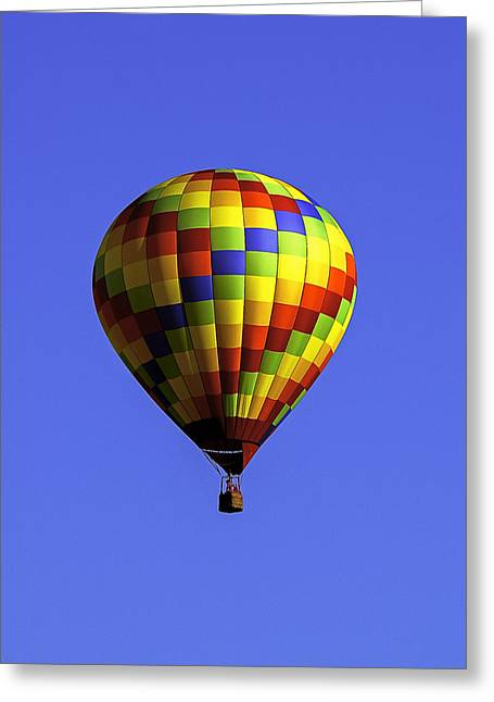 Hot Air Greeting Cards - Color in the sky Greeting Card by Andy Crawford