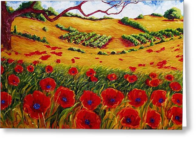 Color In The Vineyards Greeting Card by Lisa V Maus