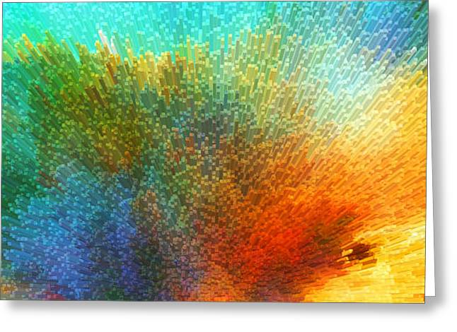 Celestial Digital Greeting Cards - Color Infinity - Abstract Art By Sharon Cummings Greeting Card by Sharon Cummings