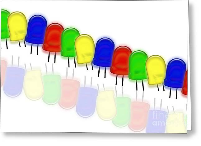 Lead Greeting Cards - Color Leds Greeting Card by Sigrid Gombert