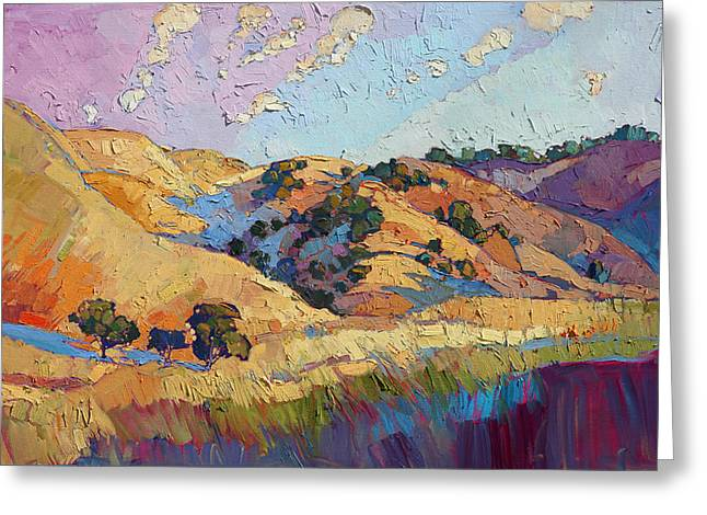 Paso Robles Greeting Cards - Color Lush Greeting Card by Erin Hanson