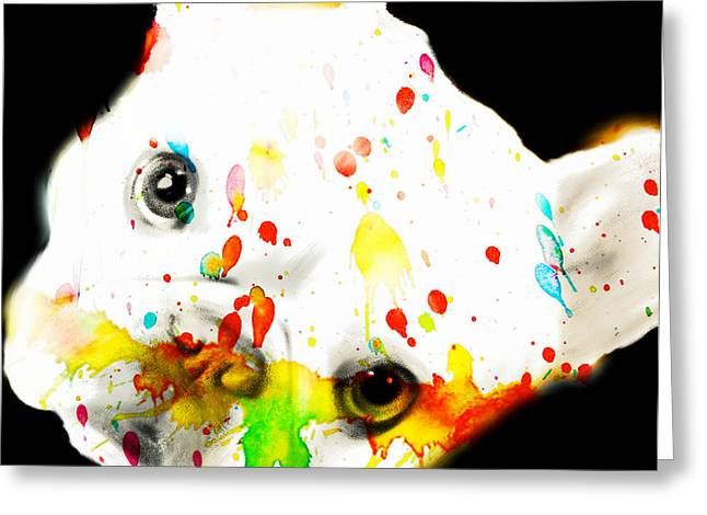 Bully Greeting Cards - Color Me Frenchie Greeting Card by Barbara Chichester