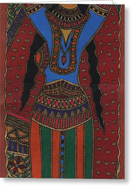 Pitcher Tapestries - Textiles Greeting Cards - Color Of Love Greeting Card by Malini Devi