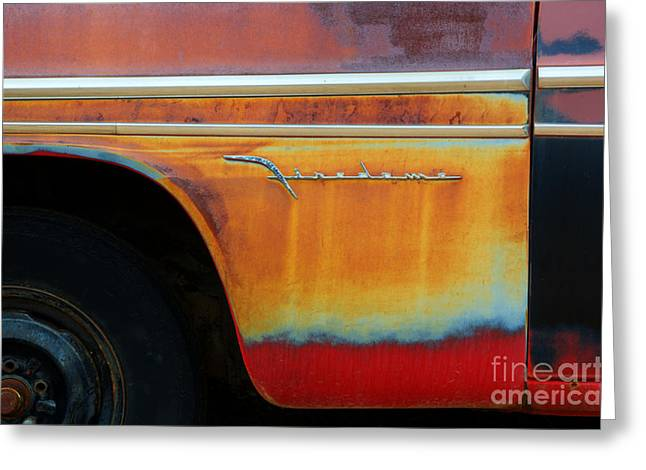 Wrecked Cars Greeting Cards - Color of Rust Greeting Card by Bob Christopher