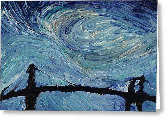 Acrylic Greeting Cards - Color Of The Sky part2 Greeting Card by Felix Concepcion