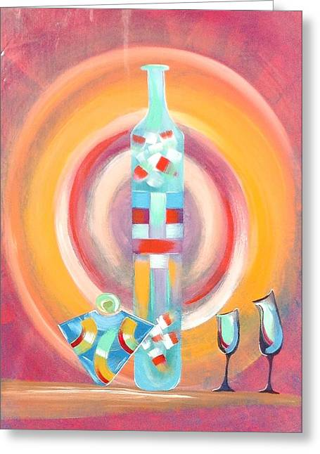 Winebottle Greeting Cards - Color Of Wine Greeting Card by Barry Knauff