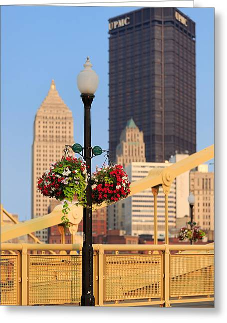 Clemente Greeting Cards - Color on Clemente Bridge Greeting Card by Emmanuel Panagiotakis