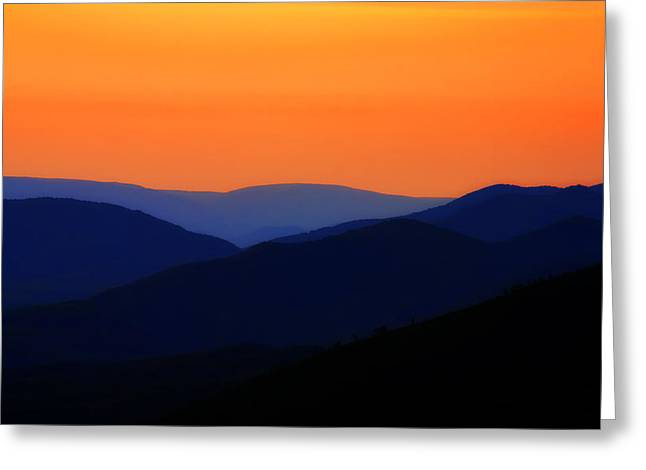 Southern Appalachians Greeting Cards - Color over the Mountains Greeting Card by Steve Hurt