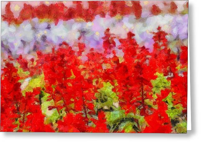Color Green Greeting Cards - Color Palette Garden Glory Greeting Card by Dan Sproul