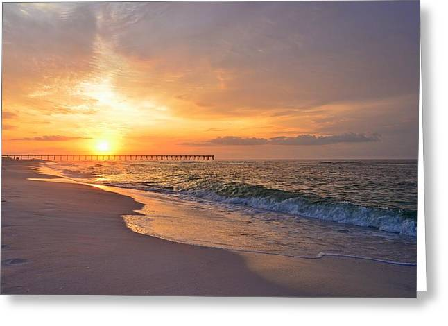 Color Palette Of God On The Beach Greeting Card by Jeff at JSJ Photography
