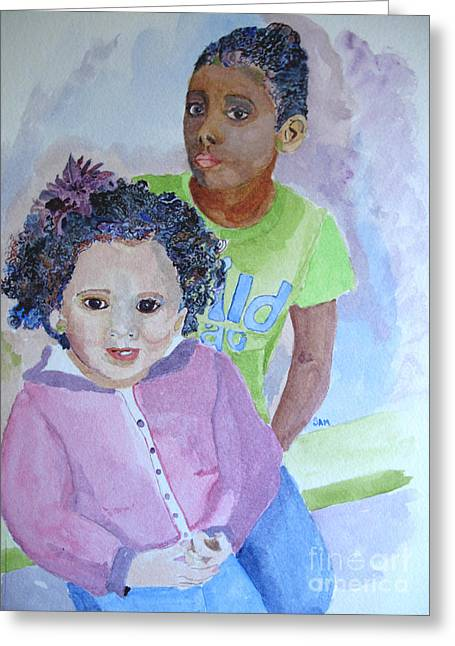 Jeunes Filles Greeting Cards - Color Purple Two Greeting Card by Sandy McIntire