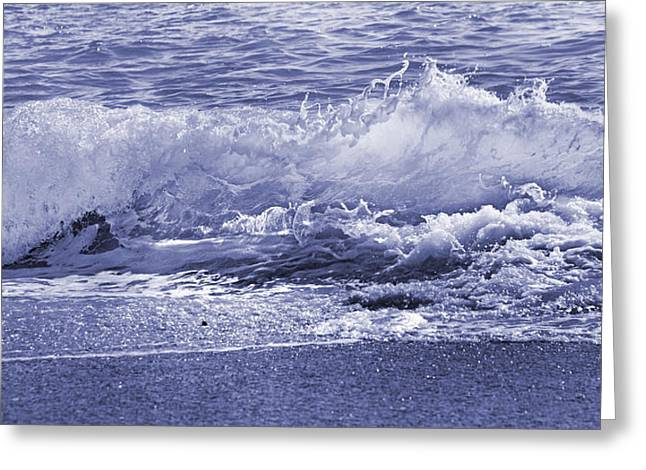 Color Quiet Wave Greeting Card by Betsy C Knapp