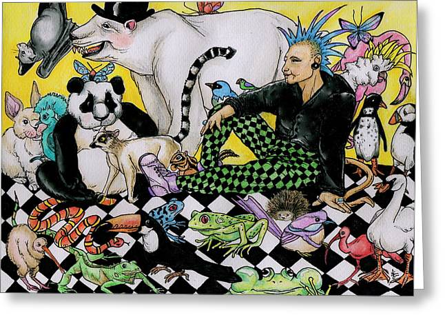 color scheme Greeting Card by Julie McDoniel