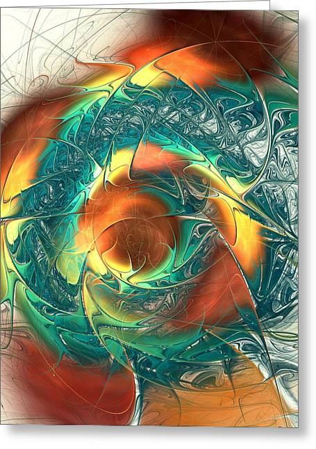 No People Greeting Cards - Color Spiral Greeting Card by Anastasiya Malakhova