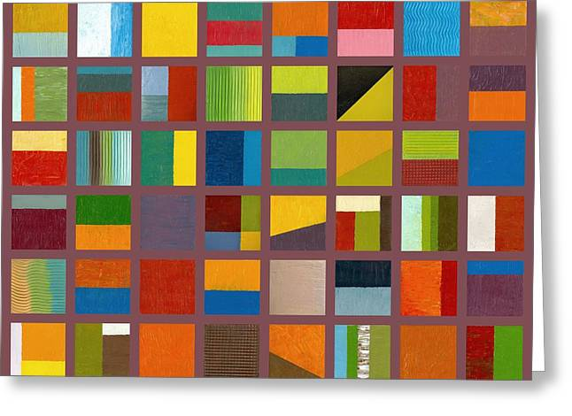 Color Study Collage 65 Greeting Card by Michelle Calkins