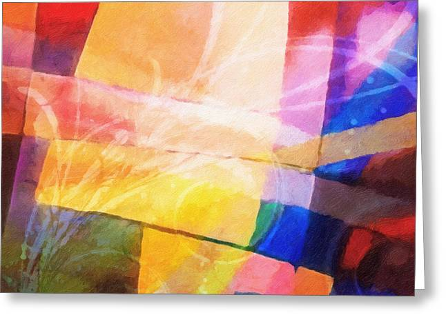 Color Symphony Greeting Card by Lutz Baar