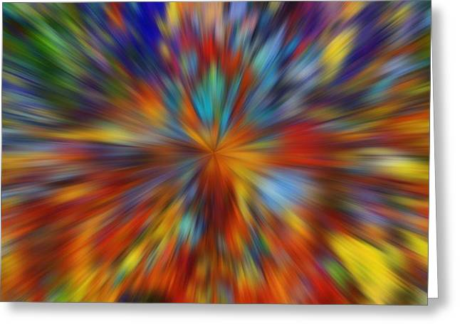 Three Speed Greeting Cards - Color Warp Greeting Card by Dan Sproul