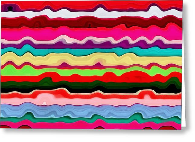 S-layer Greeting Cards - Color Waves No. 1 Greeting Card by Michelle Calkins