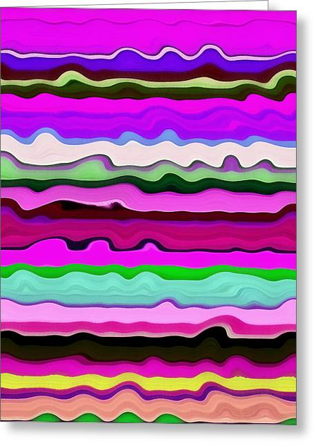 Color Compilation Greeting Cards - Color Waves No. 3 Greeting Card by Michelle Calkins