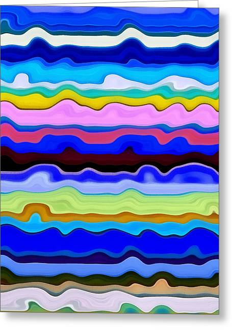 S-layer Greeting Cards - Color Waves No. 4 Greeting Card by Michelle Calkins