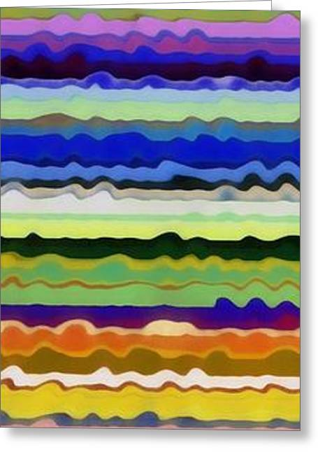 Color Compilation Greeting Cards - Color Waves No. 5 Greeting Card by Michelle Calkins