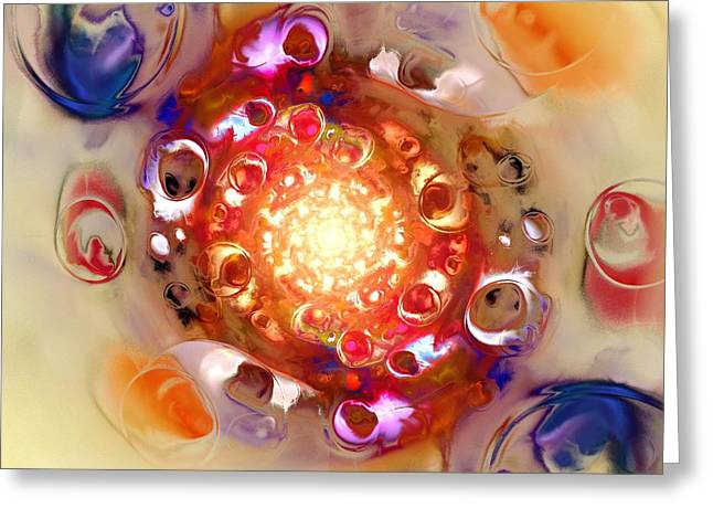 Hypnotizing Greeting Cards - Color Wheel Greeting Card by Anastasiya Malakhova