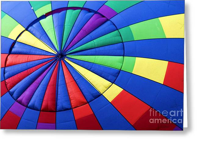 Color Wheel Greeting Card by Laurinda Bowling