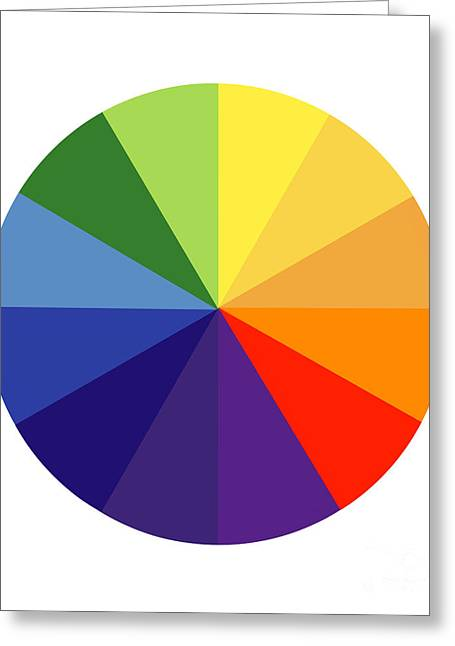 Color Wheel Art Greeting Cards - Color Wheel Greeting Card by Spl