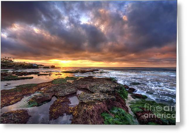 Color Within The Clouds Greeting Card by Eddie Yerkish