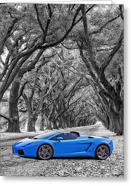 Steve Harrington Greeting Cards - Color Your World - Lamborghini Gallardo Greeting Card by Steve Harrington