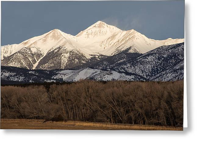 Image Of Morning Glory Greeting Cards - Colorado 14er Mt. Yale Greeting Card by Aaron Spong