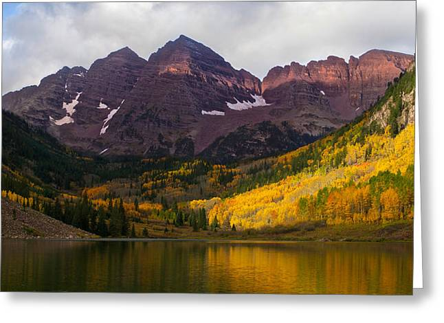 Most Greeting Cards - Colorado 14ers the Maroon Bells Greeting Card by Aaron Spong