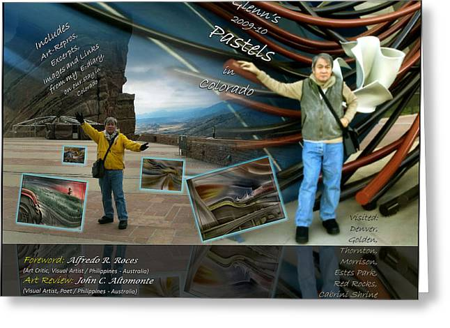 Colorado Art Book Cover Greeting Card by Glenn Bautista