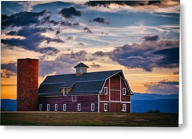 Sunset Greeting Cards Greeting Cards - Colorado Barn Greeting Card by Darren  White