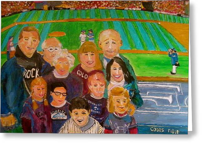 Colorado Baseball Family Greeting Card by Michael Litvack