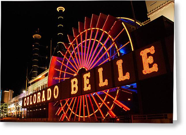 Geobob Greeting Cards - Colorado Belle Casino Laughlin Nevada and Arizona Greeting Card by Robert Ford