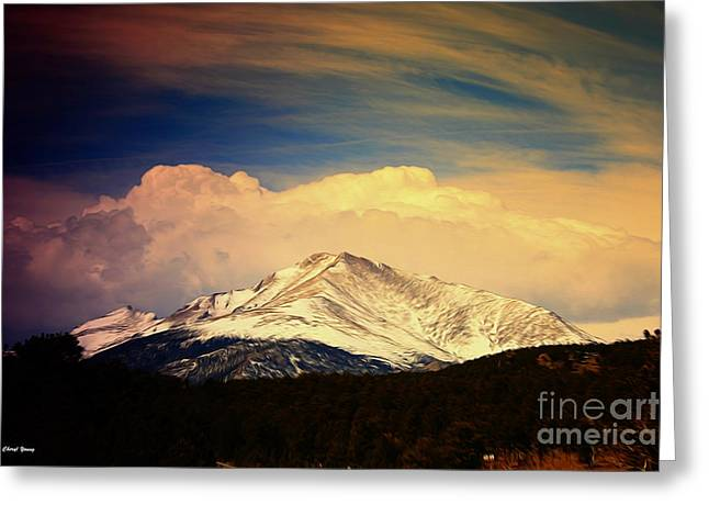 Cabin Wall Greeting Cards - Colorado Greeting Card by Cheryl Young