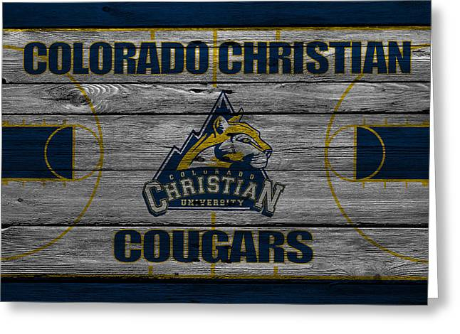 Colorado State University Greeting Cards - Colorado Christian Cougars Greeting Card by Joe Hamilton