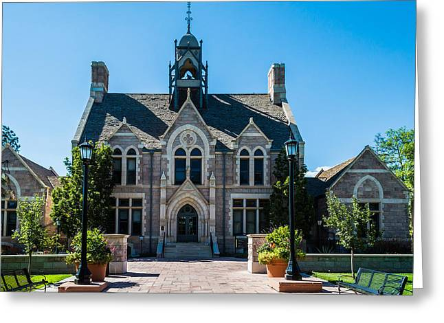 Cutler Hall Greeting Cards - Colorado College Cutler Hall Greeting Card by Ray Sheley