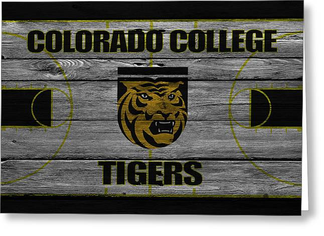 Colorado State University Greeting Cards - Colorado College Tigers Greeting Card by Joe Hamilton
